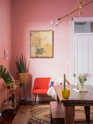 Cute Pink Lving Room Design Ideas 36