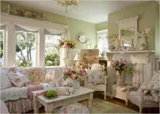 Lovely Shabby Chic Living Room Design Ideas 07