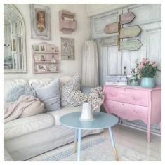 Lovely Shabby Chic Living Room Design Ideas 11