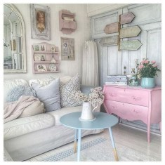 Lovely Shabby Chic Living Room Design Ideas 11