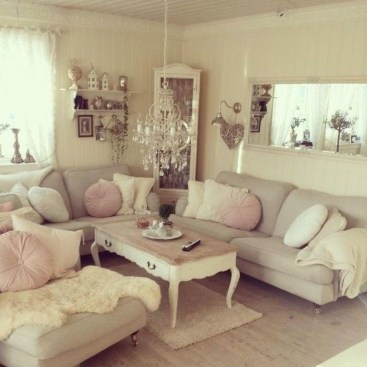 Lovely Shabby Chic Living Room Design Ideas 22