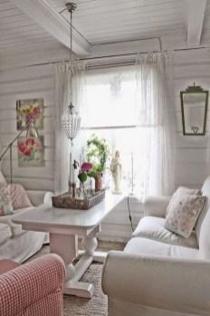 Lovely Shabby Chic Living Room Design Ideas 33
