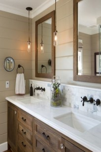 Stunning Rustic Farmhouse Bathroom Design Ideas 31
