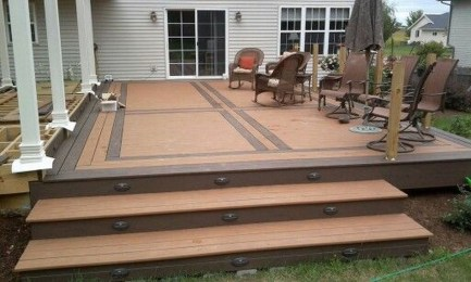 Easy DIY Wooden Deck Design For Your Home 34