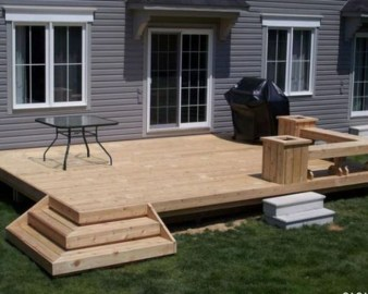Easy DIY Wooden Deck Design For Your Home 46