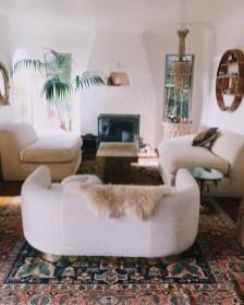 Elegant Bohemian Style Living Room Decoration Ideas 03