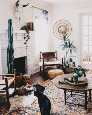 Elegant Bohemian Style Living Room Decoration Ideas 08