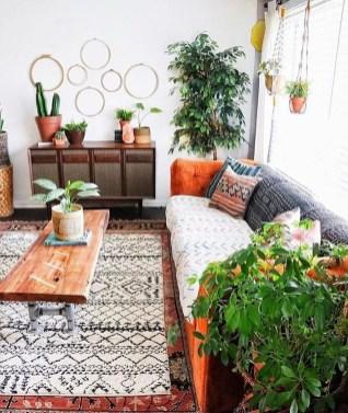 Elegant Bohemian Style Living Room Decoration Ideas 09