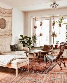 Elegant Bohemian Style Living Room Decoration Ideas 20