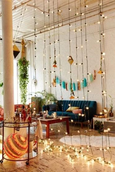 Elegant Bohemian Style Living Room Decoration Ideas 24