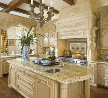 Fancy French Country Kitchen Design Ideas 44