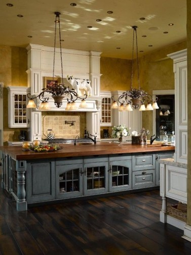 Fancy French Country Kitchen Design Ideas 48