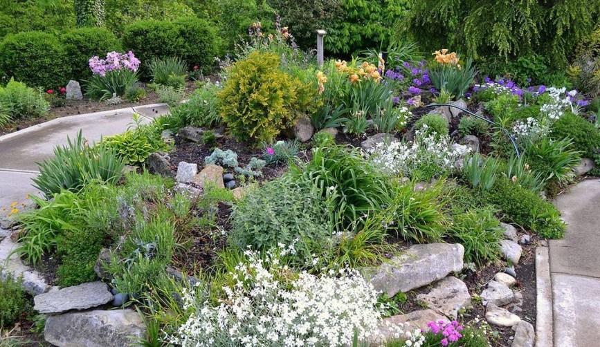 Relaxing Modern Rock Garden Ideas To Make Your Backyard Beautiful 37