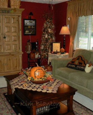 Stunning Fall Living Room Decoration Ideas 17