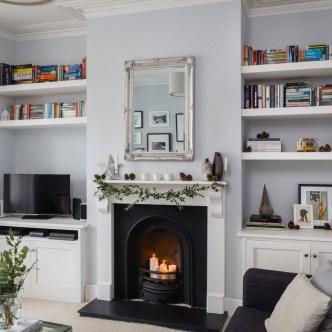 Stylish Bookshelves Design Ideas For Your Living Room 26