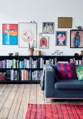 Stylish Bookshelves Design Ideas For Your Living Room 37