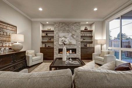 Stylish Bookshelves Design Ideas For Your Living Room 44