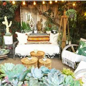Awesome Bohemian Style Ideas For Outdoor Design 28