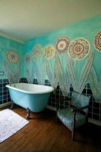 Brilliant Bohemian Style Ideas For Bathroom 36