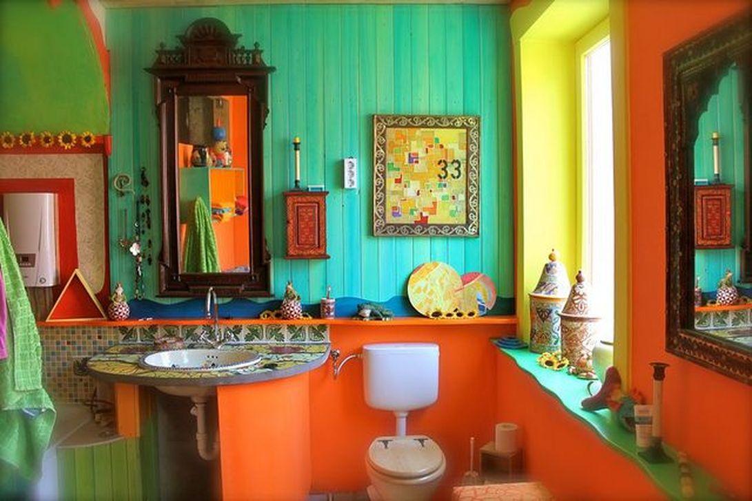 Brilliant Bohemian Style Ideas For Bathroom 44