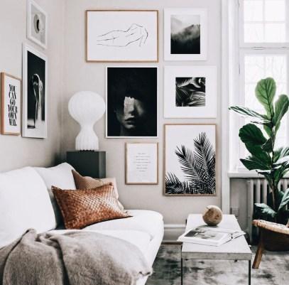 Brilliant Living Room Wall Gallery Design Ideas 16
