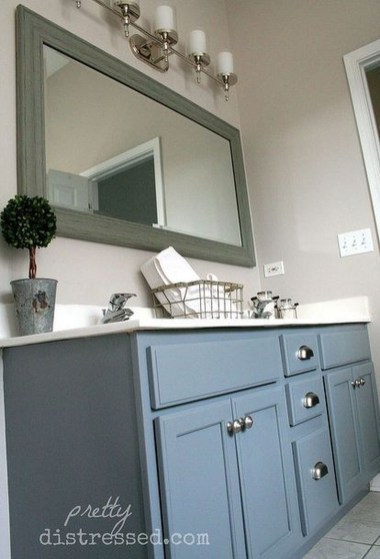 Incredible Bathroom Cabinet Paint Color Ideas 38