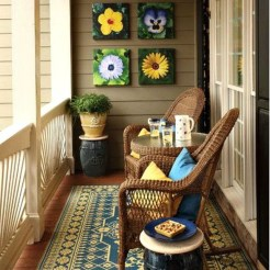 Unique Apartment Small Porch Decorating Ideas 23