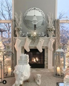 Awesome Fireplace Christmas Decoration To Makes Your Home Keep Warm 37