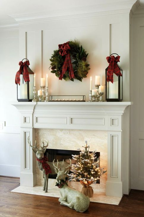 Awesome Fireplace Christmas Decoration To Makes Your Home Keep Warm 55