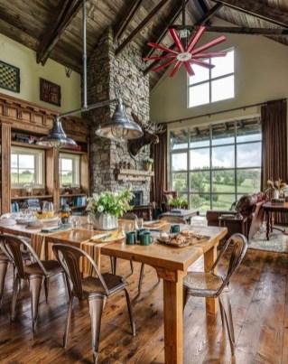 Best Rustic Dining Room Design Ideas 37