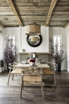 Best Rustic Dining Room Design Ideas 48