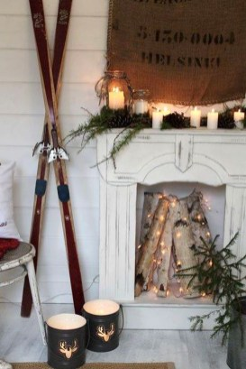 Cozy Rustic Winter Decoration For Your Home 42