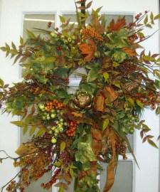Creative Thanksgiving Front Door Decoration Ideas 13