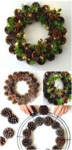 Easy DIY Outdoor Winter Wreath For Your Door 37