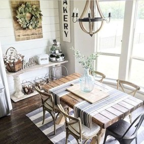 Easy Rustic Farmhouse Dining Room Makeover Ideas 11