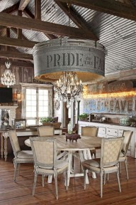 Easy Rustic Farmhouse Dining Room Makeover Ideas 24