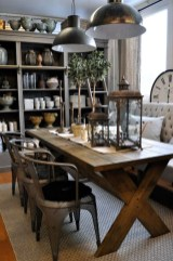 Easy Rustic Farmhouse Dining Room Makeover Ideas 35