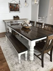 Easy Rustic Farmhouse Dining Room Makeover Ideas 52