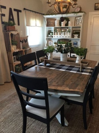 Easy Rustic Farmhouse Dining Room Makeover Ideas 59