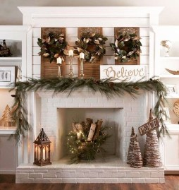 Favorite Mantel Decoration Ideas For Winter 57
