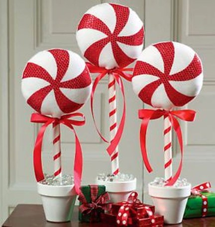 Fun Candy Cane Christmas Decoration Ideas 13