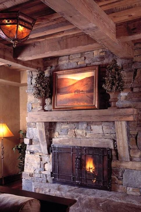 Gorgeous Fireplace Design Ideas For This Winter 44
