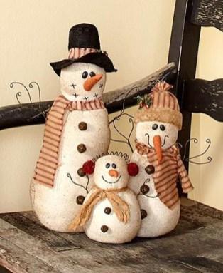 Interesting Snowman Winter Decoration Ideas 08