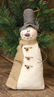 Interesting Snowman Winter Decoration Ideas 44