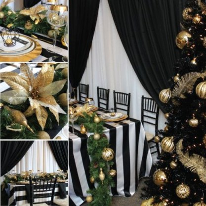 Totally Inspiring Black And Gold Christmas Decoration Ideas11