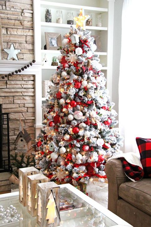 44 Awesome Red And White Christmas Tree Decoration Ideas Homystyle