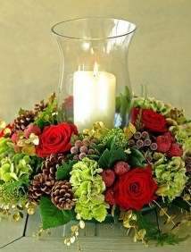 Beautiful Flower Christmas Decoration Ideas 17