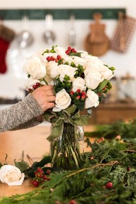 Beautiful Flower Christmas Decoration Ideas 43