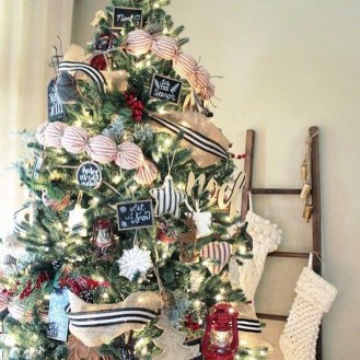 Charming Traditional Christmas Tree Decor Ideas 41