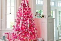 Cute Pink Christmas Tree Decoration Ideas You Will Totally Love 36